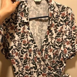 Jack Wills floral wrap dress